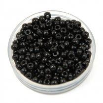 Miyuki kásagyöngy - 401 - Opaque Black - méret:8/0 - 30g