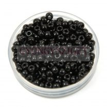 Miyuki Japanese Round Seed Bead - 401 - Opaque Black - size:8/0 - 30g