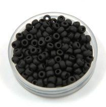 Miyuki kásagyöngy - 401f - Opaque Matte Black - méret:8/0 - 30g-AKCIOS