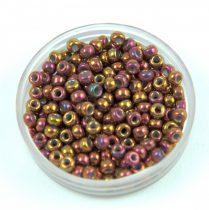 Miyuki Japanese Round Seed Bead - 1969 - Metallic Tea Berry Gold Iris - size:8/0