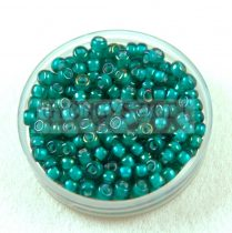 Miyuki Japanese Round Seed Bead - 3765 - White Lined Emerald - size:8/0 - 30g