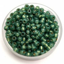 Miyuki Japanese Round Seed Bead - 4241 - Duracoat Silver Lined Dark Mint - size:8/0