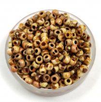 Miyuki Japanese Round Seed Bead - 4512 - Opaque Yellow Picasso - size:8/0