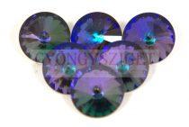 Matubo  rivoli - crystal heliotrope - 12mm