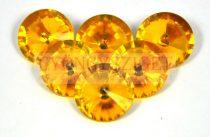 Matubo  Rivoli Stone - Amber - 16mm