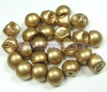 Cseh gomba gyöngy (mushroom) - lágy arany - 9x8mm