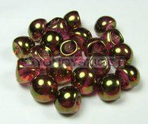 Cseh gomba gyöngy (mushroom) - Arany lüszteres rózsaszín - 9x8mm