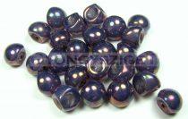 Cseh gomba gyöngy (mushroom) - Bíbor puncs opál - 9x8mm