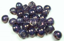 Mushroom - Czech Glass Bead - purple punch opal - 9x8mm
