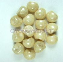 Mushroom - Czech Glass Bead - Ivory - 9x8mm