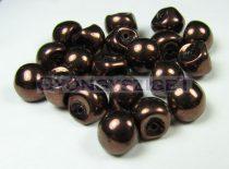 Cseh gomba gyöngy (mushroom) - Sötét bronz - 9x8mm