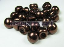 Mushroom - Czech Glass Bead - dark bronze - 9x8mm
