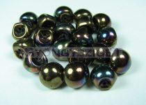 Cseh gomba gyöngy (mushroom) - Sötét bronz írisz - 9x8mm