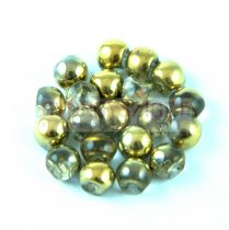 Cseh gomba gyöngy (mushroom) - crystal amber - 6x5mm