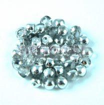 Cseh gomba gyöngy (mushroom) - Crystal Silver - 4x3mm
