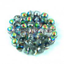 Cseh gomba gyöngy (mushroom) - Crystal Vitrail - 4x3mm