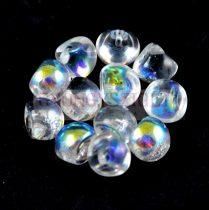 Mushroom - Czech Glass Bead - Crystal AB - 9x8mm
