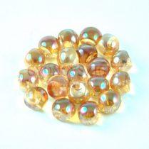 Cseh gomba gyöngy (mushroom) - kristály barack AB - 6x5mm