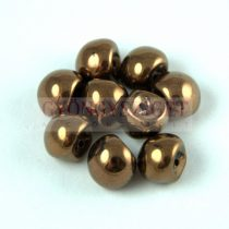 Cseh gomba gyöngy (mushroom) - White Bronz Luster - 9x8mm