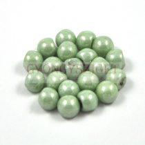 Cseh gomba gyöngy (mushroom) - alabaster green marble - 6x5mm