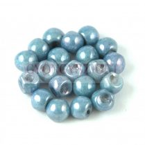 Cseh gomba gyöngy (mushroom) - Alabaster Blue Luster - 6x5mm