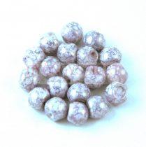 Cseh gomba gyöngy (mushroom) - Alabaster Purple Bronze Luster - 6x5mm