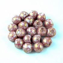 Cseh gomba gyöngy (mushroom) - Alabaster Pink Bronze Luster - 6x5mm