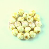 Cseh gomba gyöngy (mushroom) - Alabaster Travertin - 6x5mm