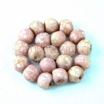 Cseh gomba gyöngy (mushroom) - Matte Alabaster Mauve  Bronze Luster - 6x5mm