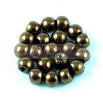 Cseh gomba gyöngy (mushroom) - sötét bronz - 6x5mm