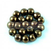Cseh gomba gyöngy (mushroom) - Dark Bronze - 6x5mm