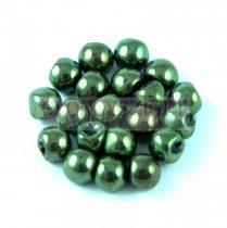 Cseh gomba gyöngy (mushroom) - lüszteres metál zöld - 6x5mm