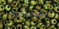 Toho magatama gyöngy - y310 - hybrid zöldalma picasso -3mm