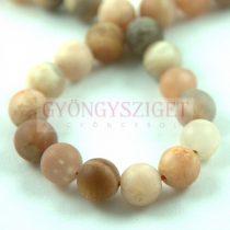 Sunstone - round bead - matte - 8mm (appr. 45pcs/strand)