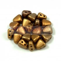 Nib-Bit - Czech Pressed 2 Hole Bead - 6x5mm - Rose Bronze