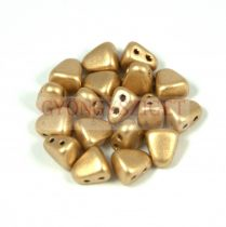 Nib-Bit - Czech Pressed 2 Hole Bead - 6x5mm - Aztec Gold