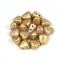 Nib-Bit - Czech Pressed 2 Hole Bead - 6x5mm - Aztec Gold