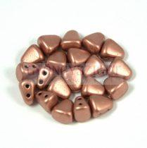 Nib-Bit - Czech Pressed 2 Hole Bead - 6x5mm - Matte Copper