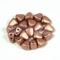 Nib-Bit - Czech Pressed 2 Hole Bead - 6x5mm - Matte Copper