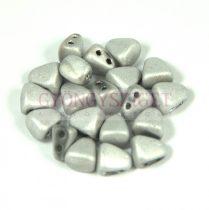 Nib-Bit - Cseh préselt kétlyukú gyöngy - 6x5mm - Matte Silver