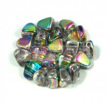 Nib-Bit - Czech Pressed 2 Hole Bead - 6x5mm - Crystal Vitral