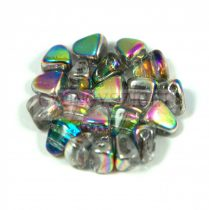 Nib-Bit - Czech Pressed 2 Hole Bead - 6x5mm - Crystal Vitral