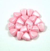 Nib-Bit - Cseh préselt kétlyukú gyöngy - 6x5mm - Silk Satin Inocent Pink