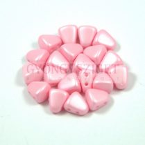 Nib-Bit - Czech Pressed 2 Hole Bead - 6x5mm - Silk Satin Inocent Pink
