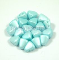 Nib-Bit - Czech Pressed 2 Hole Bead - 6x5mm - Silk Satin Inocent Light Blue