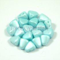 Nib-Bit - Czech Pressed 2 Hole Bead - 6x5mm - Silk Satin Inocent Light Blue