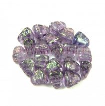 Nib-Bit - Czech Pressed 2 Hole Bead - 6x5mm - Stardust