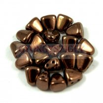 Nib-Bit - Czech Pressed 2 Hole Bead - 6x5mm - Bronze