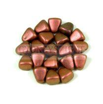 Nib-Bit - Cseh préselt kétlyukú gyöngy - 6x5mm - Polichrome Copper Rose