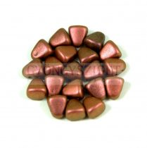 Nib-Bit - Czech Pressed 2 Hole Bead - 6x5mm - Polichrome Copper Rose
